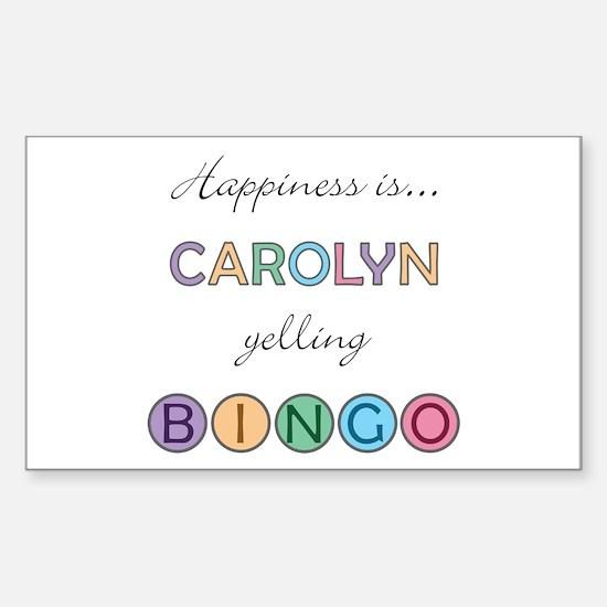 Carolyn BINGO Rectangle Decal