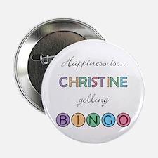 Christine BINGO Button