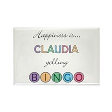 Claudia BINGO Rectangle Magnet