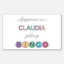 Claudia BINGO Rectangle Decal