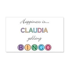 Claudia BINGO 22x14 Wall Peel