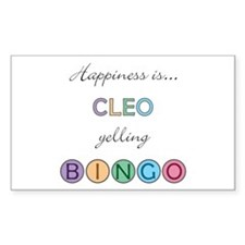 Cleo BINGO Rectangle Decal