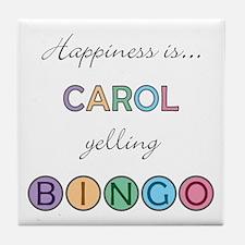Carol BINGO Tile Coaster