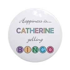 Catherine BINGO Round Ornament
