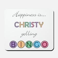Christy BINGO Mousepad