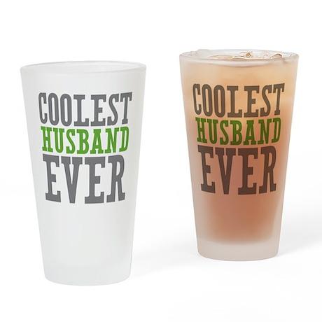Coolest Husband Drinking Glass