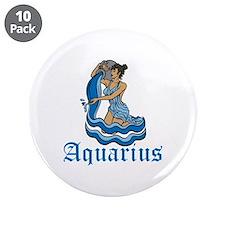 """Aquarius 3.5"""" Button (10 pack)"""