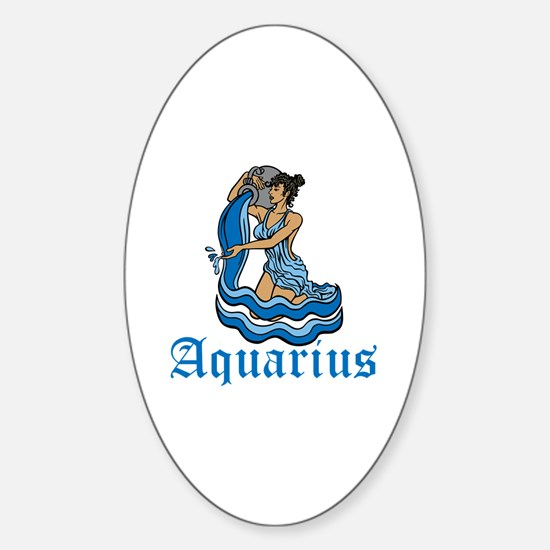 Aquarius Sticker (Oval)