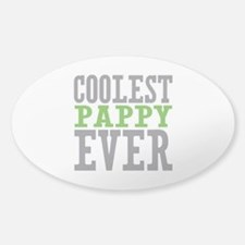 Coolest Pappy Sticker (Oval)