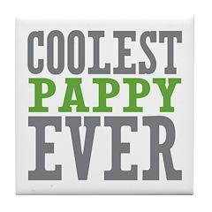 Coolest Pappy Tile Coaster