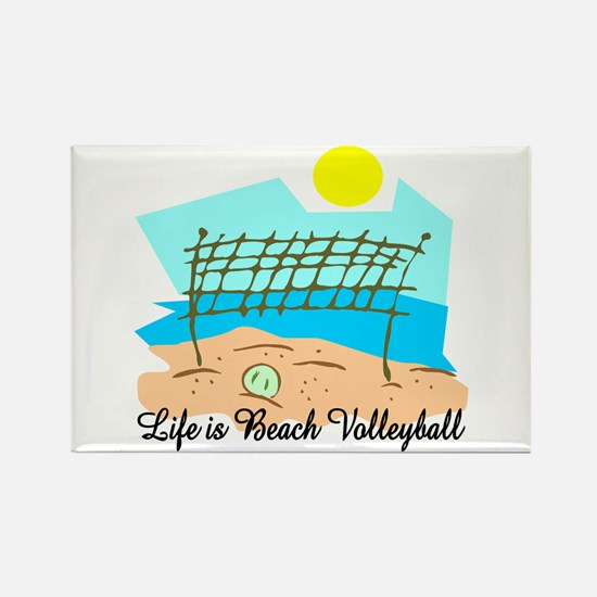 Beach Volleyball Rectangle Magnet