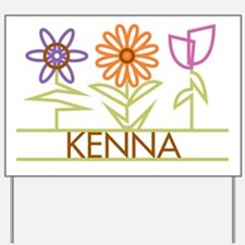 Kenna with cute flowers Yard Sign