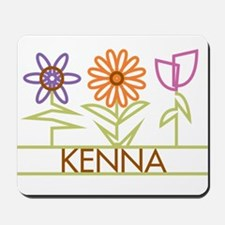 Kenna with cute flowers Mousepad