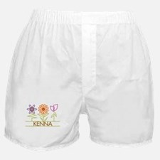 Kenna with cute flowers Boxer Shorts