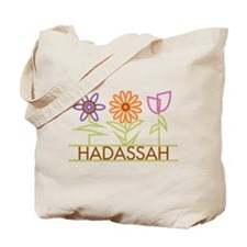 Hadassah with cute flowers Tote Bag