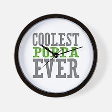 Coolest Poppa Wall Clock