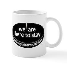 99% logo in BW Mugs