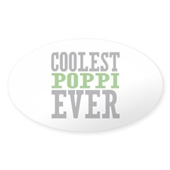 Coolest Poppi Sticker (Oval)