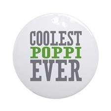 Coolest Poppi Ornament (Round)