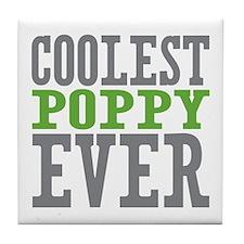 Coolest Poppy Tile Coaster