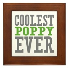 Coolest Poppy Framed Tile