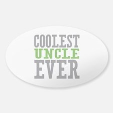 Coolest Uncle Sticker (Oval)