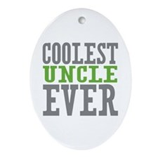 Coolest Uncle Ornament (Oval)