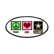 Peace Love Army Patches