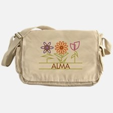 Alma with cute flowers Messenger Bag