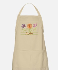 Alma with cute flowers Apron