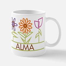 Alma with cute flowers Mug