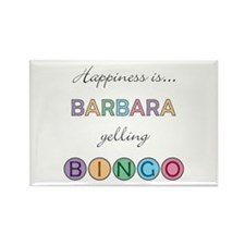 Barbara BINGO Rectangle Magnet