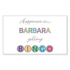 Barbara BINGO Rectangle Decal