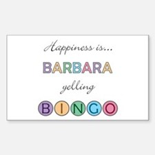 Barbara BINGO Rectangle Decal