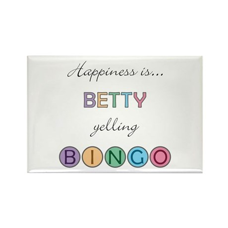 Betty BINGO Rectangle Magnet