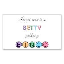 Betty BINGO Rectangle Decal