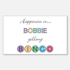 Bobbie BINGO Rectangle Decal