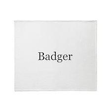Badger Throw Blanket