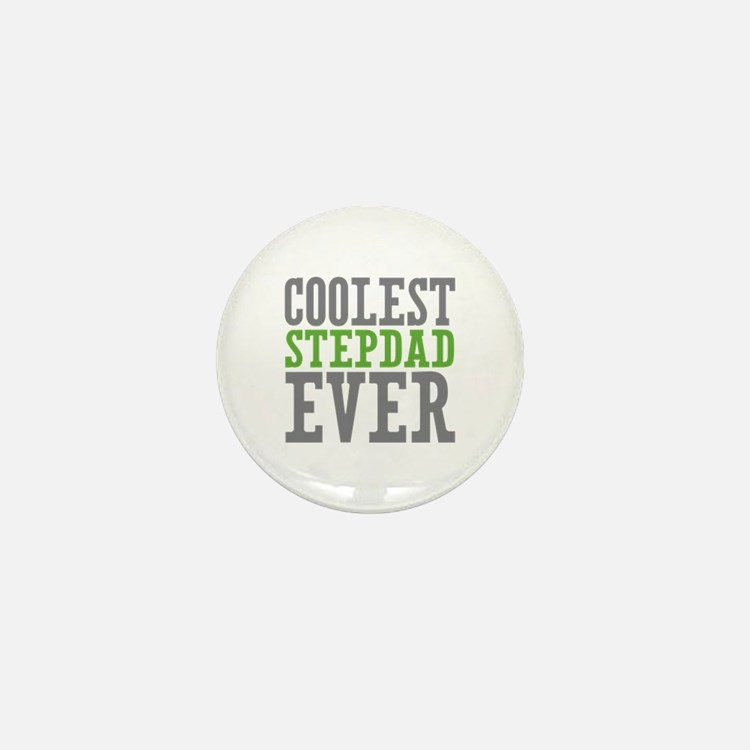 Coolest Stepdad Mini Button