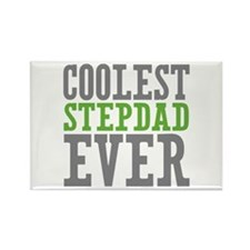 Coolest Stepdad Rectangle Magnet