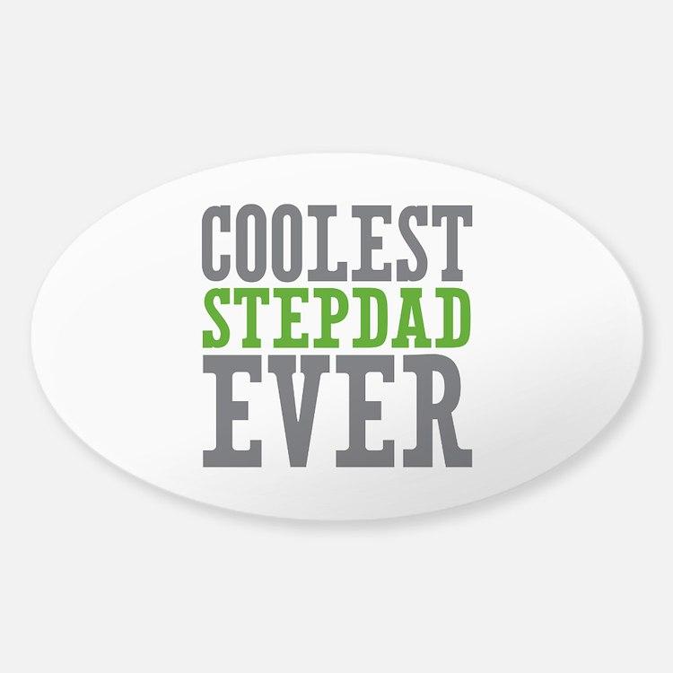 Coolest Stepdad Sticker (Oval)