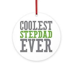 Coolest Stepdad Ornament (Round)