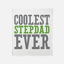 Coolest Stepdad Throw Blanket