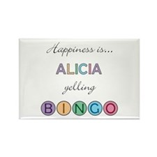 Alicia BINGO Rectangle Magnet