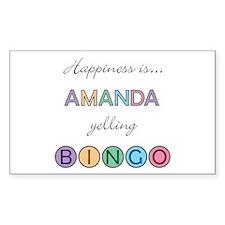 Amanda BINGO Rectangle Decal
