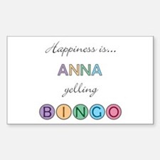 Anna BINGO Rectangle Decal
