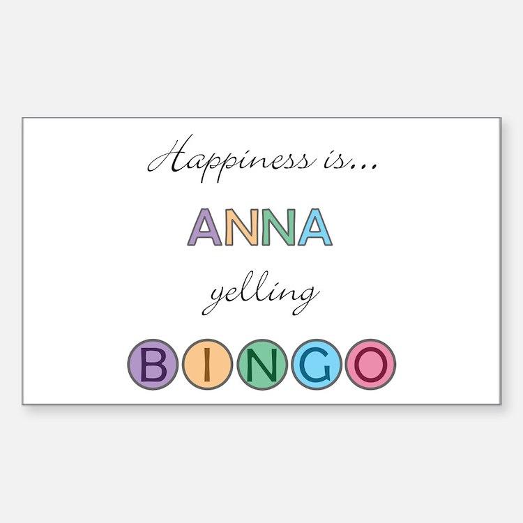 Anna BINGO Rectangle Decal