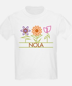Nola with cute flowers T-Shirt