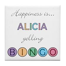 Alicia BINGO Tile Coaster