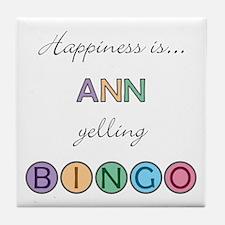 Ann BINGO Tile Coaster